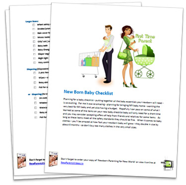 New Born Baby Checklist